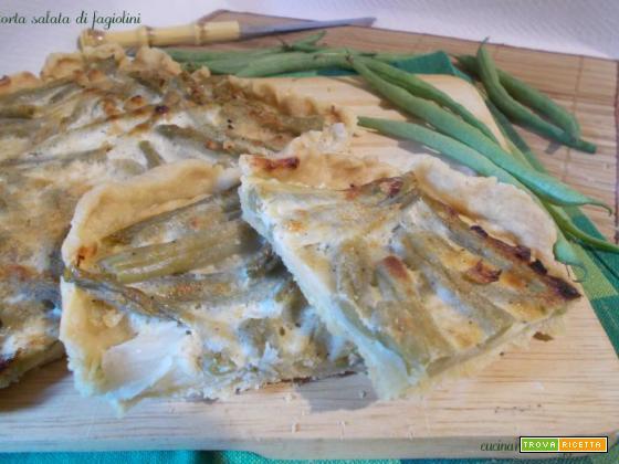 Torta salata di fagiolini