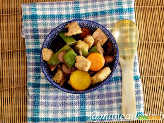 Maialino al curry con WokMix arcobaleno