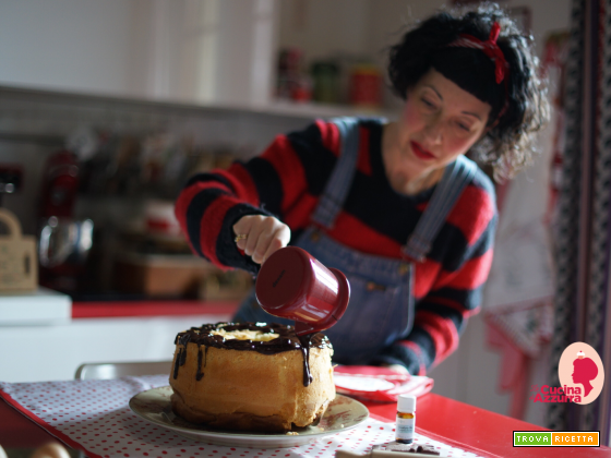 CHIFFON CAKE ALL'ESSENZA DI EUCALIPTO E CIOCCOLATO