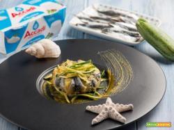 Nutrimento e gusto a volontà in un semplice tortino di alici con zucchine