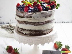 NAKED CAKE AL CACAO E FRUTTI DI BOSCO