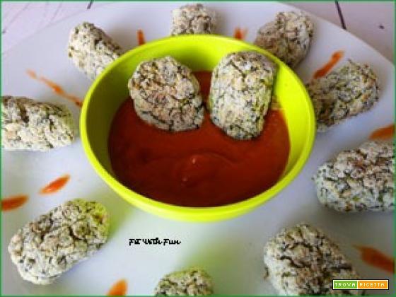 Crocchette Vegan Sfiziose Broccoli e Piselli con Salsa Barbecue