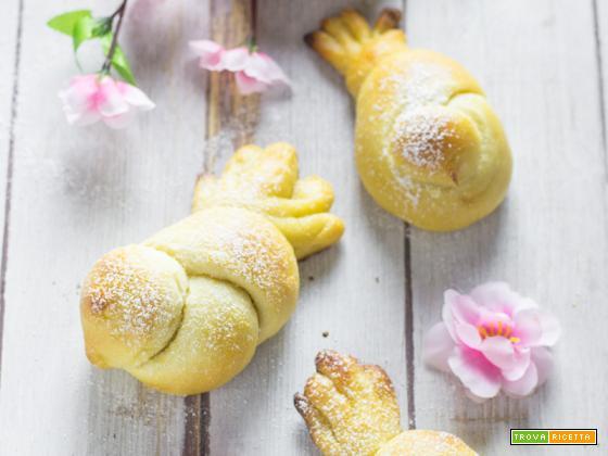 Colombe di brioche profumate al limone (ricetta senza burro)