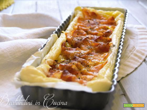 Torta salata bacon e camembert