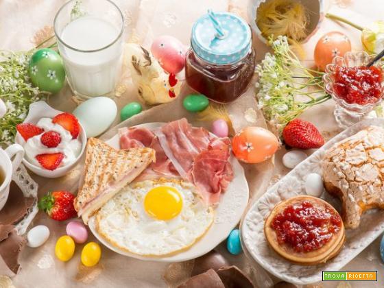 Deliziosa colazione di Pasqua, senza glutine né lattosio