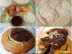 Torta marmorizzata all'olio
