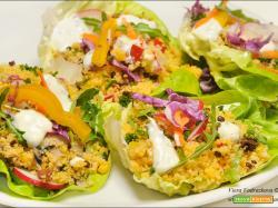 Couscous gluten free nelle foglie d'insalata