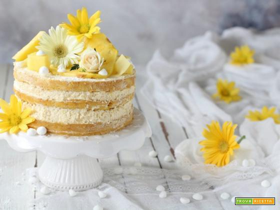 Naked cake con ananas facile e veloce