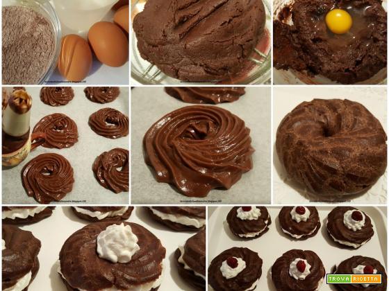Zeppole al cacao e olio, con panna