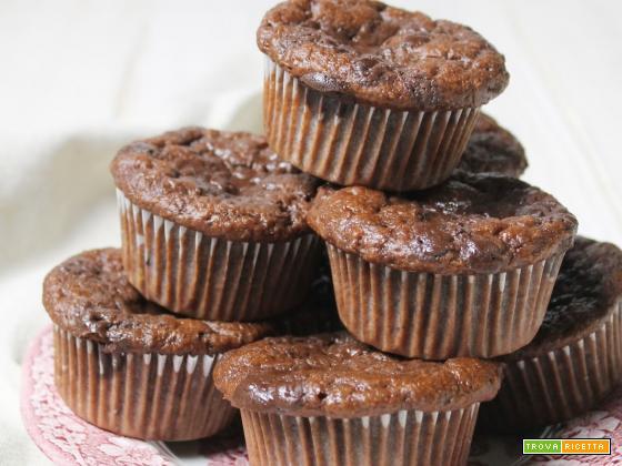 Chocolate&Banana Muffin (parliamo di Glicemia e Xilitolo)