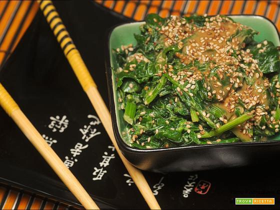 Hourensou no goma-ae insalata di spinaci e sesamo