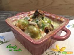 Cavolini di Bruxelles al gorgonzola gratinati al forno