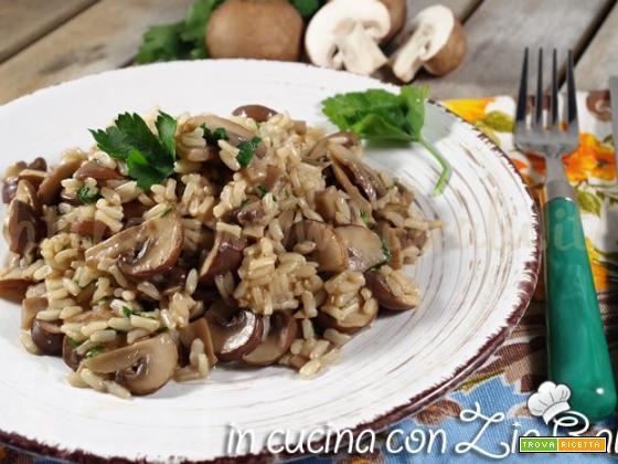 Riso integrale ai funghi – ricetta light