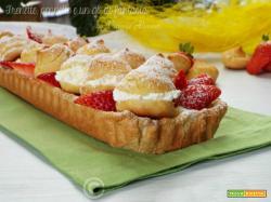 Crostata bignè con lemon curd e fragole
