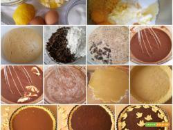 Crostata con crema al cioccolato fondente