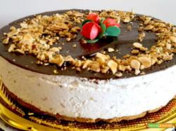 Cheesecake parfait di mandorle