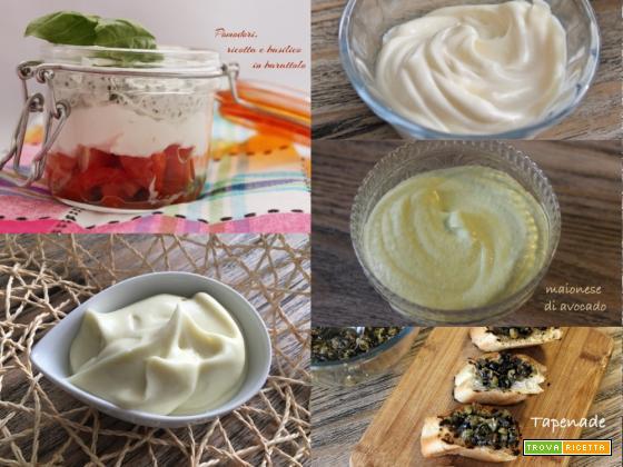 Creme e salsine per snack facili e veloci
