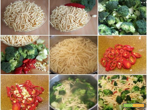 Trofie con broccolo e peperoncino piccante, piatto veloce