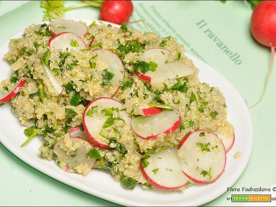 Quinoa con le aromatiche e ravanelli gluten free