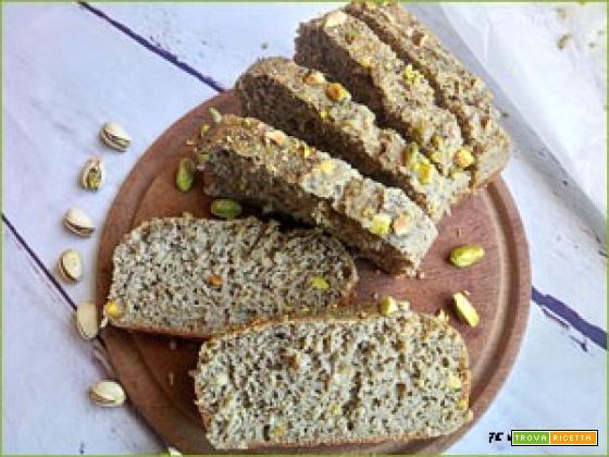 Pane Perfetto e Senza Impasto alla Farina di Fave e Pistacchi