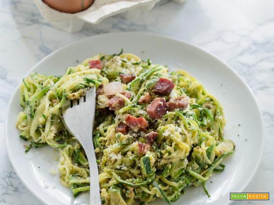 Zoodles alla carbonara – Spaghetti di zucchina alla carbonara