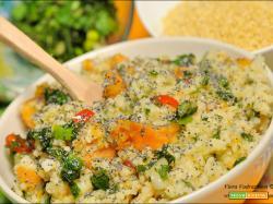 Porridge salato di miglio e batate gluten free