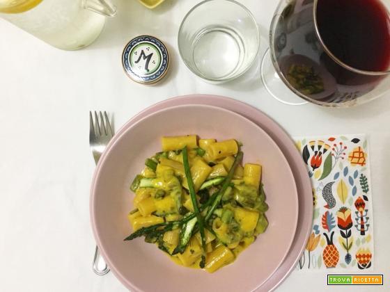 Rigatoni Canossa alla Carbonara di asparagi