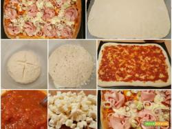 Pizza con taleggio, mortadella e cipollotto