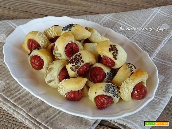Mini wurstel con pasta sfoglia