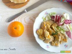 Bocconcini di pollo alla arancia