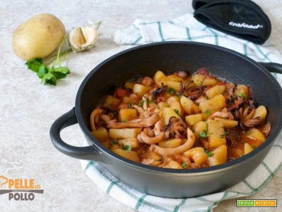 Seppie in umido con patate e moscardini