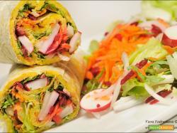 Gluten free wrap con le verdure e Tahina