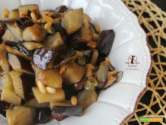 Melanzane in agrodolce con pinoli e olive (ricetta pentola a pressione elettrica)