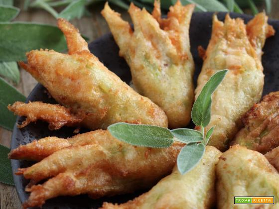Fiori di Zucca fritti con pastella alla Schweppes