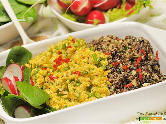 Mandorle strapazzate con quinoa nera gluten free