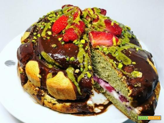 PISTACCHIO&STRAWBERRY CAKE