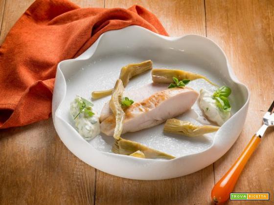 Petto di pollo con limone e basilico: scenografia e gusto si incontrano