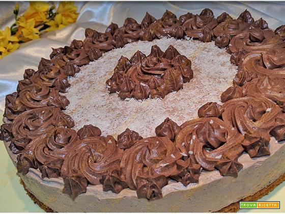 Cheesecake soffice con crema al cacao