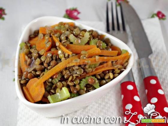 Lenticchie e verdure in padella