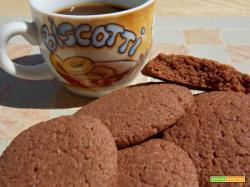 Biscotti agli amaretti e cacao