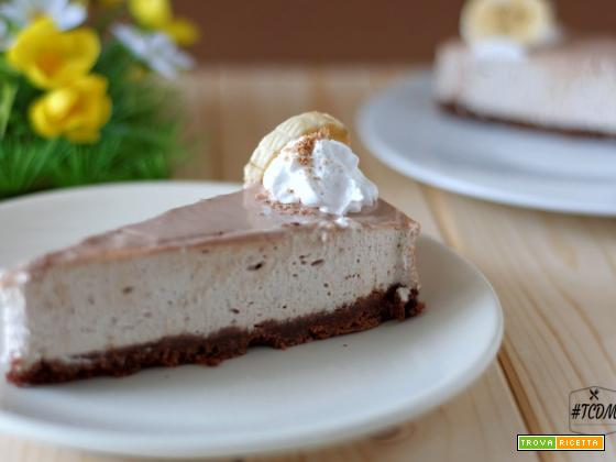 Cheesecake alla banana e cioccolato Kinder