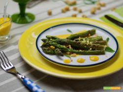 Asparagi alla griglia con salsa al Parmigiano