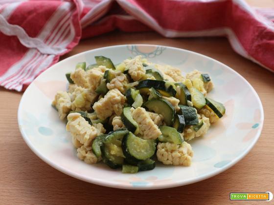 Tempeh e zucchine cremoso