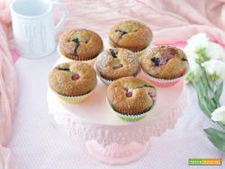 Muffin soffici allo yogurt e frutti di bosco