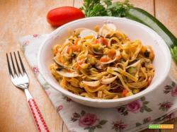 Tagliolini vongole e zucchine: profumi e sapori mediterranei