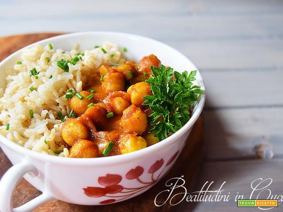 Ceci al curry: cholay