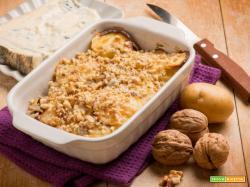 Patate al gorgonzola e noci: quando il sapore diventa filante e cremoso