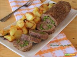 Polpettone con asparagi e patate al forno