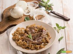 Fegato con le cipolle: la ricetta che fa bene alla vista