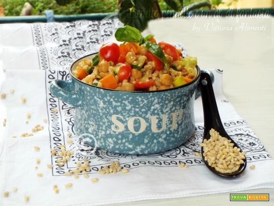 Insalata di orzo con verdure